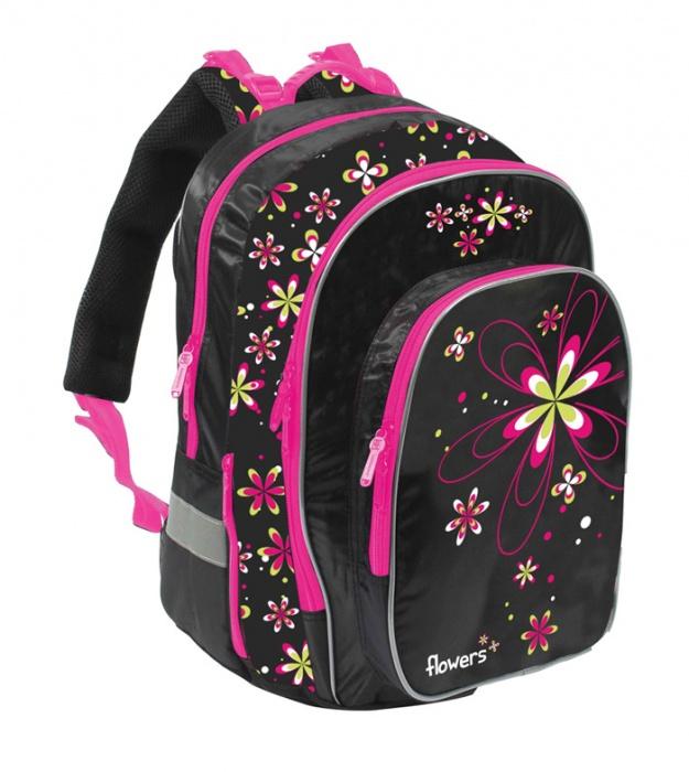 a8dd1fac90a Školní batoh ERGO fashion kytky