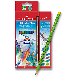 Pastelky Faber-Castell Grip Colour Magic - 8 barev